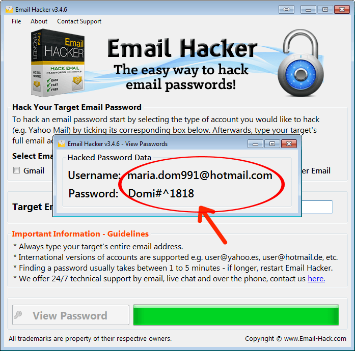 Hack Hotmail Passwords